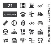 automotive icon set. collection ... | Shutterstock .eps vector #1272596149