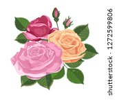 watercolor illustration.... | Shutterstock .eps vector #1272599806