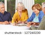 Group Of Senior People In...
