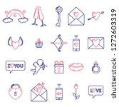 set of valentine's day symbols...