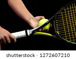 young woman on a tennis... | Shutterstock . vector #1272607210