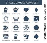 16 gamble icons. trendy gamble... | Shutterstock .eps vector #1272607486