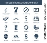 reflection icons. trendy 16... | Shutterstock .eps vector #1272607630