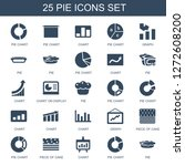 25 pie icons. trendy pie icons... | Shutterstock .eps vector #1272608200