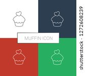 muffin icon white background.... | Shutterstock .eps vector #1272608239