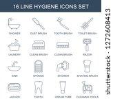 hygiene icons. trendy 16... | Shutterstock .eps vector #1272608413