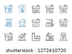 chimney icons set. collection... | Shutterstock .eps vector #1272610720