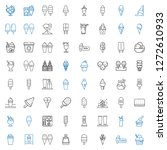 frozen icons set. collection of ... | Shutterstock .eps vector #1272610933