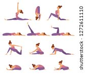 body stretch collection. vector ... | Shutterstock .eps vector #1272611110