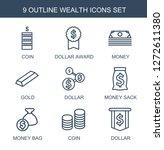 wealth icons. trendy 9 wealth... | Shutterstock .eps vector #1272611380