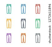 pants icon white background.... | Shutterstock .eps vector #1272611896