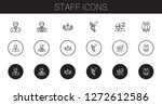 staff icons set. collection of...   Shutterstock .eps vector #1272612586