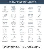 25 hygiene icons. trendy... | Shutterstock .eps vector #1272613849