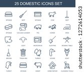 domestic icons. trendy 25... | Shutterstock .eps vector #1272614053