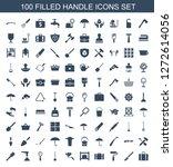 handle icons. trendy 100 handle ... | Shutterstock .eps vector #1272614056