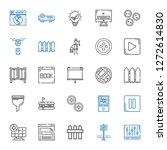 panel icons set. collection of... | Shutterstock .eps vector #1272614830