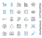 knife icons set. collection of... | Shutterstock .eps vector #1272614926