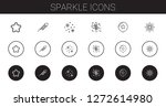 sparkle icons set. collection...