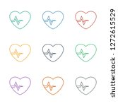 heartbeat icon white background.... | Shutterstock .eps vector #1272615529