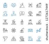 dangerous icons set. collection ... | Shutterstock .eps vector #1272617449