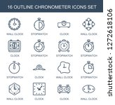 chronometer icons. trendy 16... | Shutterstock .eps vector #1272618106