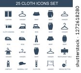 25 cloth icons. trendy cloth... | Shutterstock .eps vector #1272618280