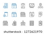 plan icons set. collection of...