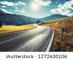 road in mountain valley at... | Shutterstock . vector #1272630106