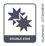 double star icon vector on... | Shutterstock .eps vector #1272643819