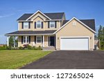 large family home in a rural... | Shutterstock . vector #127265024