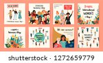 international womens day.... | Shutterstock .eps vector #1272659779