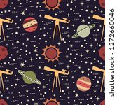 seamless pattern with telescope ... | Shutterstock .eps vector #1272660046