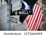 wall street sign with american... | Shutterstock . vector #1272664699