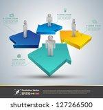 vector  arrow 3d loop  ...   Shutterstock .eps vector #127266500