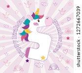 happy birthday number five card | Shutterstock . vector #1272667039
