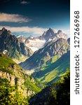 beautiful walley in caucasus... | Shutterstock . vector #127266968