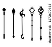 set of black silhouette staff... | Shutterstock .eps vector #1272670933