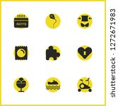 activity icons set with heart...
