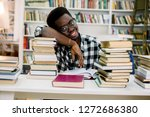 african american male college... | Shutterstock . vector #1272686380