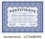 blue awesome certificate... | Shutterstock .eps vector #1272688390