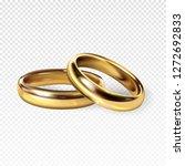 golden wedding rings 3d...   Shutterstock . vector #1272692833