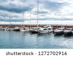 port with yachts in barcelona ... | Shutterstock . vector #1272702916