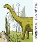 diplodocus dinosaur in its...   Shutterstock .eps vector #1272704443