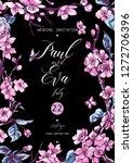 vintage floral vector wedding... | Shutterstock .eps vector #1272706396