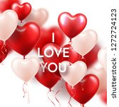 valentines day background with... | Shutterstock .eps vector #1272724123