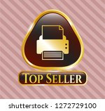 golden emblem or badge with...   Shutterstock .eps vector #1272729100