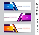 abstract banner collection with ... | Shutterstock .eps vector #1272731650
