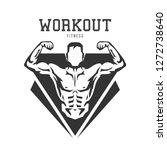silhouette of muscular man....   Shutterstock .eps vector #1272738640
