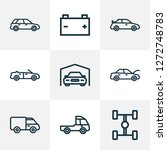 car icons line style set with... | Shutterstock .eps vector #1272748783