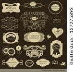 calligraphic design elements... | Shutterstock .eps vector #127275893